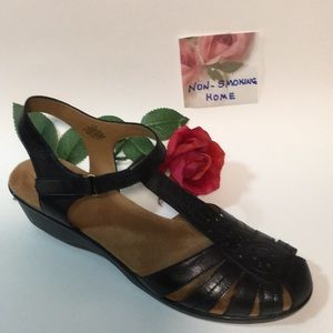 EASY SPIRIT BLACK SANDALS 11 M